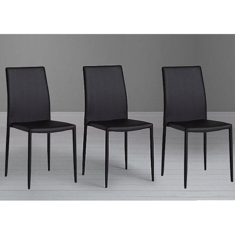 "Actona ""Piana"" Designer Black/Grey Fully Fabric Covered Dining Chairs"