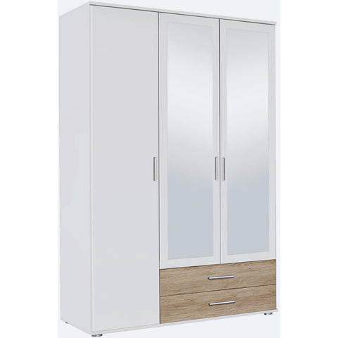 ASSEMBLY INCLUDED Rauch 'Rasant' 3 or 4 Door Wardrobe, White & Oak. German Bedroom Furniture., [product_variation] - Freedom Homestore