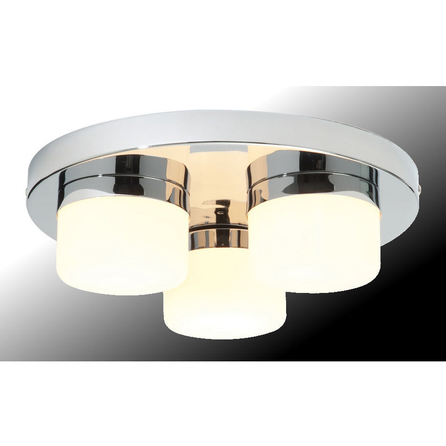 "Saxby ""Pure"" 34200. 3-light Bathroom Ceiling Pendant. Chrome & Glass. IP44., [product_variation] - Freedom Homestore"