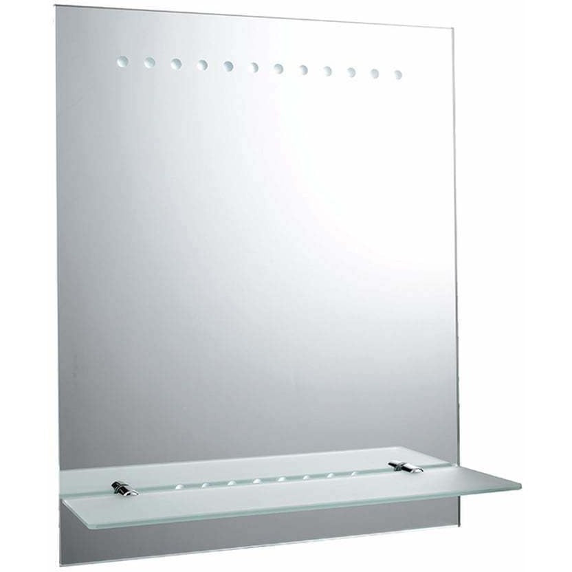 BATTERY OPERATED - Saxby Taro 61596 Illuminated LED Bathroom Mirror & Shelf, [product_variation] - Freedom Homestore