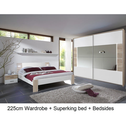 ASSEMBLY INCLUDED Qmax 'Town'. Integrated LED Lighting German Bedroom Furniture., [product_variation] - Freedom Homestore