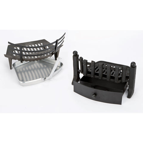 Inglenook Solid Fuel Set, Burning Cradle & Pan. Two Styles.  Fire Companion., [product_variation] - Freedom Homestore