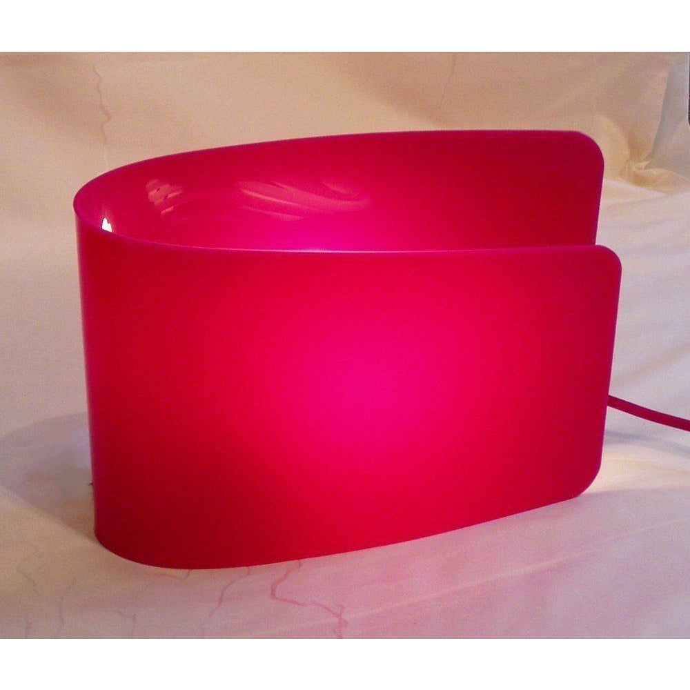 "*Clearance* Sompex/Esprit ""Wave"" Table Lamp Light WIth Pink Acrylic Shade, [product_variation] - Freedom Homestore"