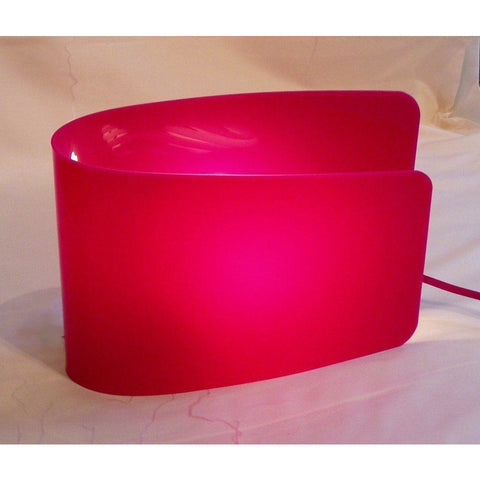 "*Clearance* Sompex/Esprit ""Wave"" Table Lamp Light WIth Pink Acrylic Shade"