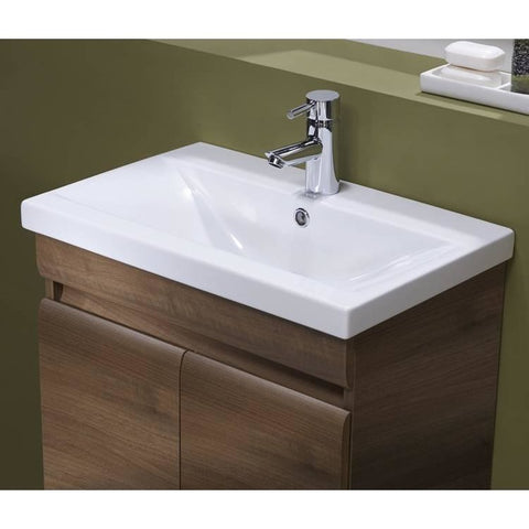 *Clearance* Tavistock 'Groove' Vanity Unit With Sink, Walnut, Wall or Floor, [product_variation] - Freedom Homestore