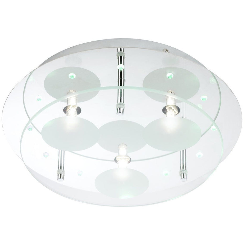Endon Terragni Flush Chrome & Glass Round Ceiling 3 Lights TERRAGNI-CH, [product_variation] - Freedom Homestore