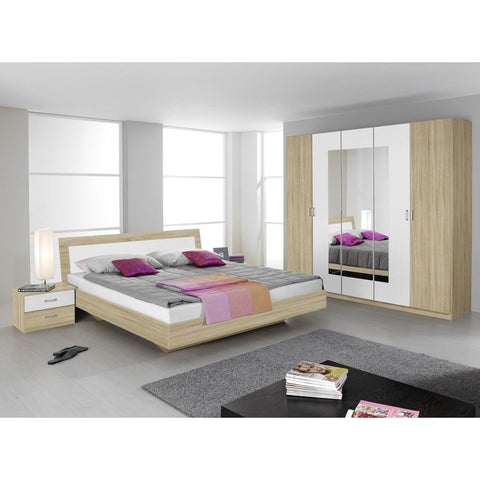 Rauch 'Trevi' Range German Made Bedroom Furniture. Sonoma Oak & Alpine White