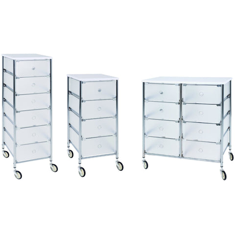 "Haku ""Trolley"". Chrome & Plastic Storage Cabinet Range, [product_variation] - Freedom Homestore"
