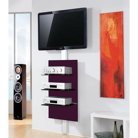 "VCM ""Xeno"" Wall Mounted TV Furniture Media Shelf. Black Gloss 1 or 3 Tier., [product_variation] - Freedom Homestore"