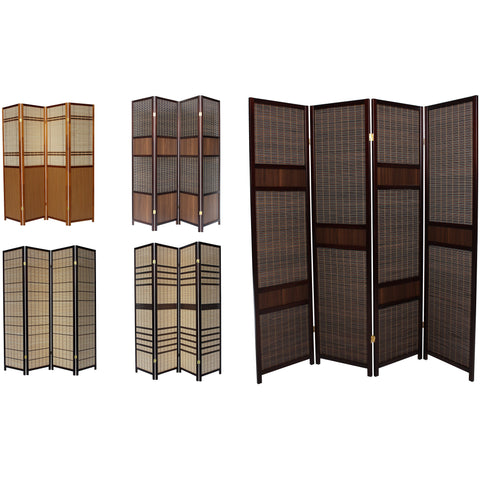 LUXURY Wood Panel Folding Room Divider Privacy Screen. High Quality Heavy Weight