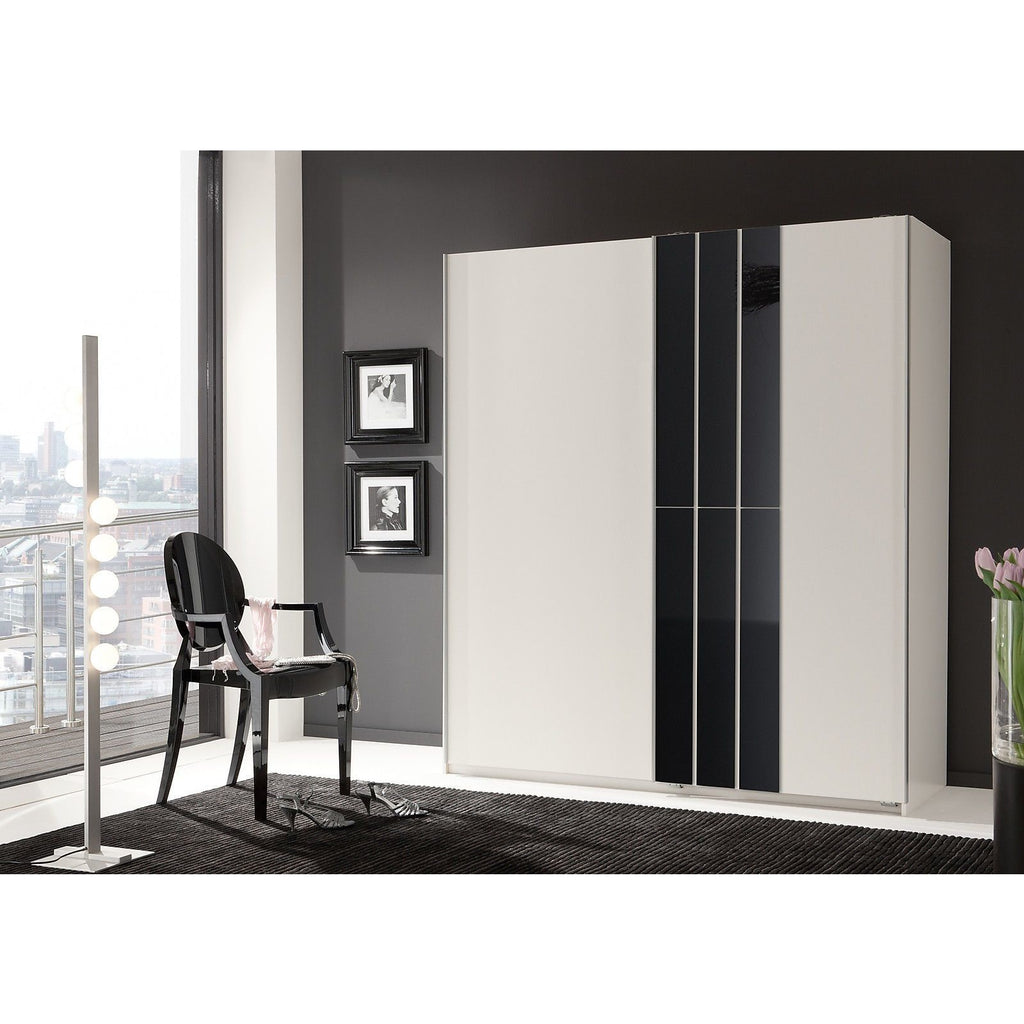 Qmax 'Cologne' 180cm Sliding Door Wardrobe - German Bedroom Furniture. White, [product_variation] - Freedom Homestore