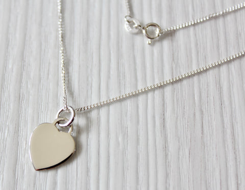 MILLY Ladies 925 Sterling Silver Heart Necklace, Personalised Engraving Gift Box - Bluerock Bay®