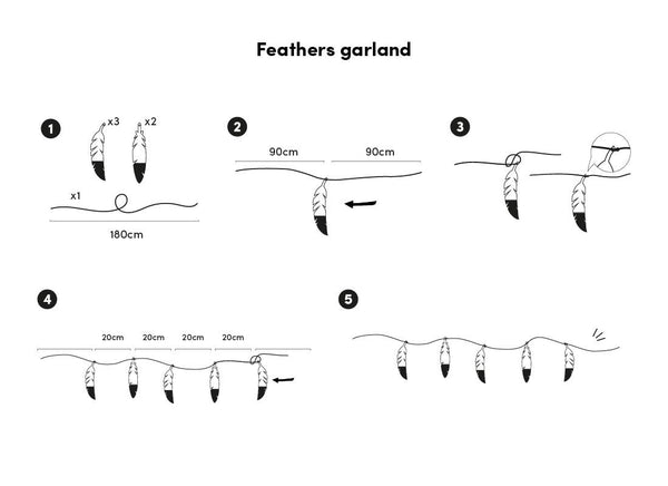 Feather Garland Instructions