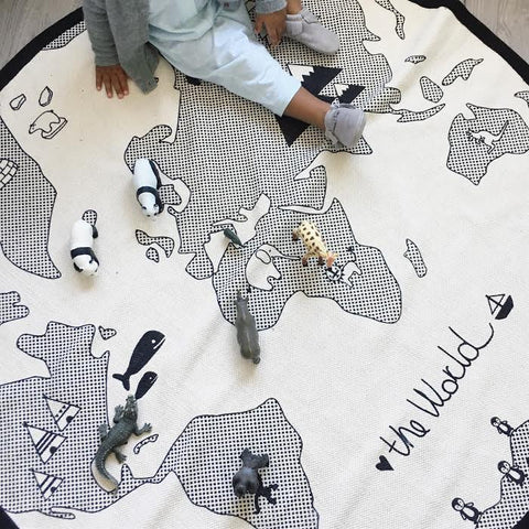 OYOY World Rug on DLK (image owned, Design Life Kids, LLC)
