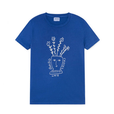 Bobo Choses Flowers Adult T-Shirt at Design Life Kids