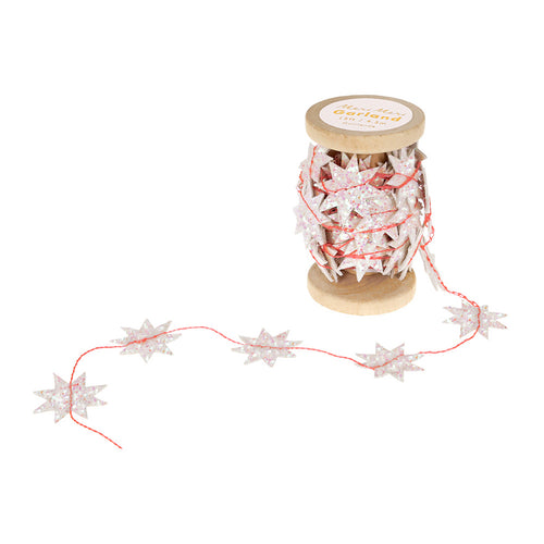 Meri Meri Iridescent Star Garland Spool on DLK | designlifekids.com