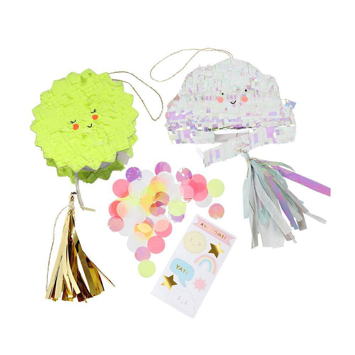 Meri Meri Cloud Sun Piñata Party Favors on DLK | designlifekids.com