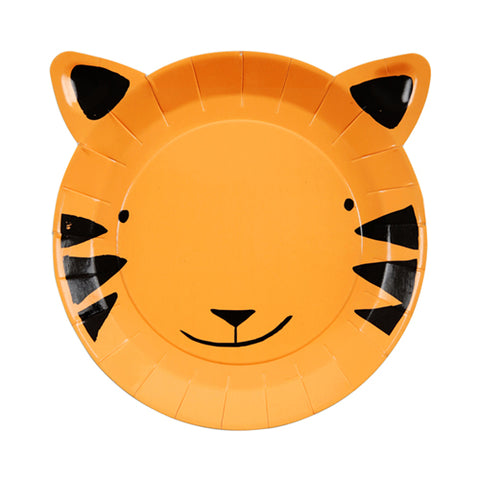Meri Meri Go Wild Tiger Party Plates on DLK | designlifekids.com