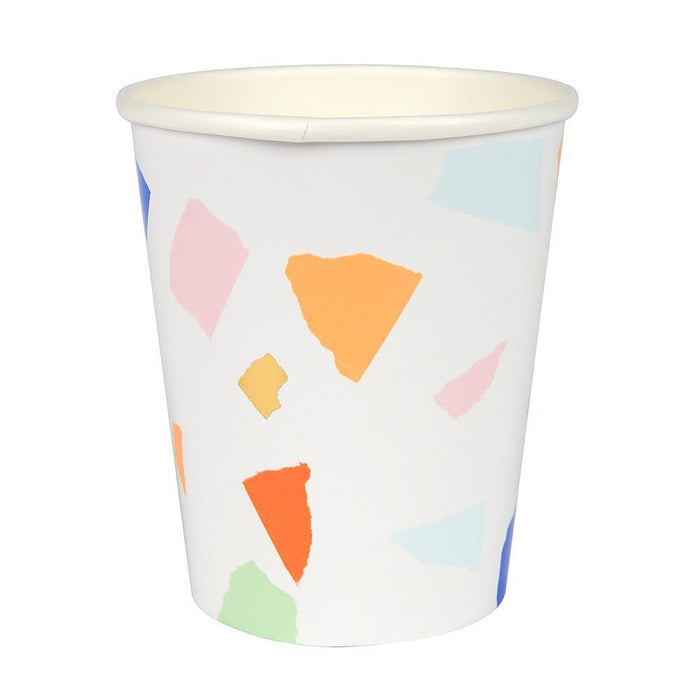 Meri Meri Bright Terrazzo Party Cups on Design Life Kids