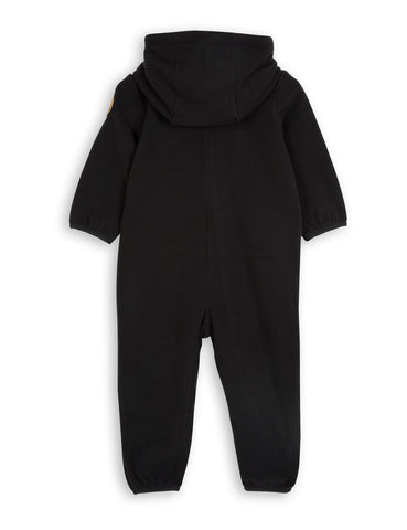 Mini Rodini Black Fleece Onesie on DLK | designlifekids.com