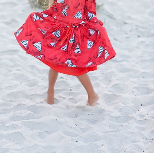 AQUARIUM KIDZ TRIANGLE PRINT SKIRT ON DLK