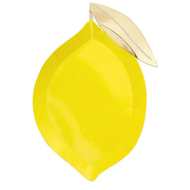 Meri Meri Lemon Shaped Party Plates on DLK | designlifekids.com