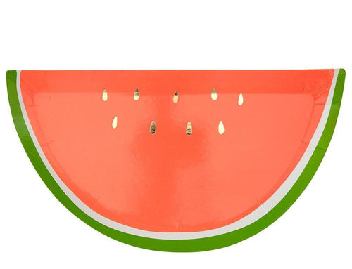 Meri Meri Watermelon Shaped Party Plates on DLK | designlifekids.com