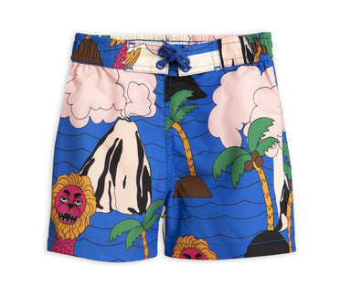 Mini Rodini Seamonster Swim Trunks on DLK | designlifekids.com