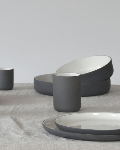 Archive Studios Foundation Grey Ceramic Stoneware Plate on Design Life Kids