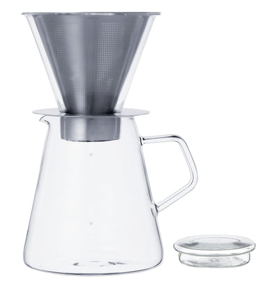 Kinto Japan Carat Coffee Dripper and Pot set on DLK | designlifekids.com
