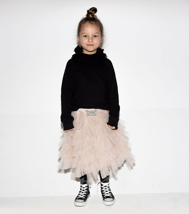 Tutu du Monde and Nununu Skull Patch Layered Skirt on DLK \ designlifekids.com