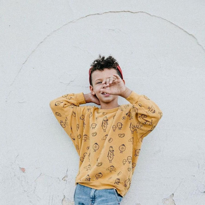 Kira Kids Bread Print Sweatshirt on Design Life Kids