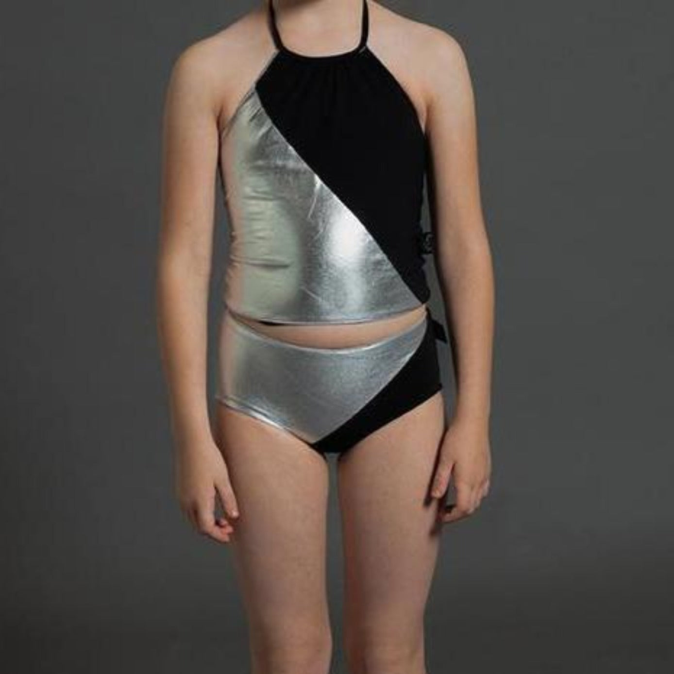 Nununu Metallic Halter Bathing Suit on DLK | designlifekids.com