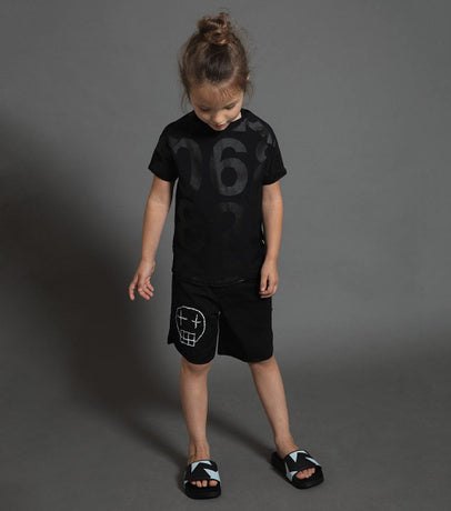 Nununu Sketch Skull Surf Swim Shorts on DLK | designlifekids.com