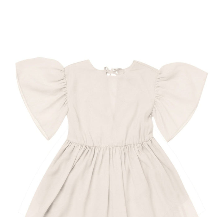 Omamimini Flare Ruffle Sleeve Dress on Design Life Kids