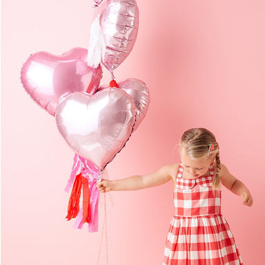 Meri Meri Heart Balloons with Tassels on DLK | designlifekids.com