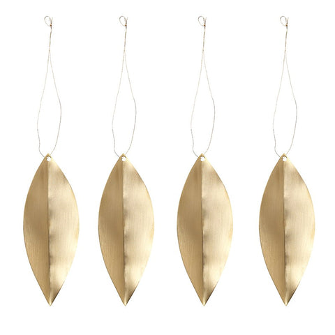 Ferm Living Leaf Brass Ornaments on DLK | designlifekids.com