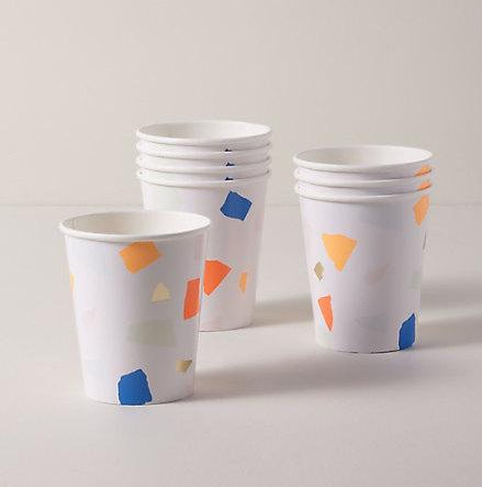Bright Terrazzo Party Cups