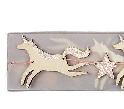 Meri Meri Wooden Unicorn Garland on DLK | designlifekids.com