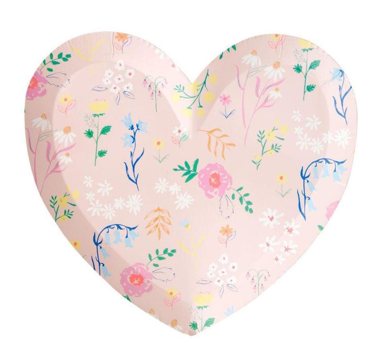 Meri Meri Wildflower Heart Shaped Plates on DLK | designlifekids.com
