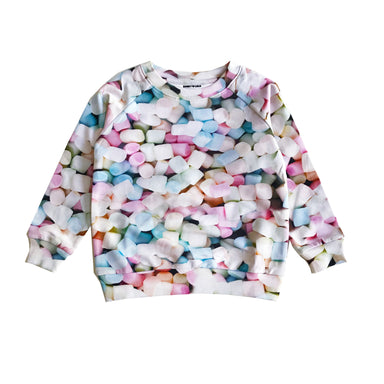 Romey Loves Lulu Marshmallow Print Sweater on Design Life Kids