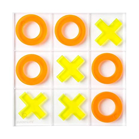 Sunnylife Modern Neon Lucite Tic Tac Toe Game on Design Life Kids