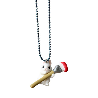 Pop Cutie Paint Bunny Necklace on DLK | designlifekids.com