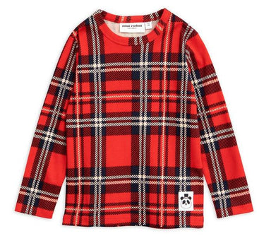 Mini Rodini Check Long Sleeve Tee on DLK