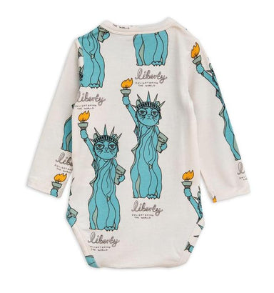Mini Rodini Liberty Onesie Bodysuit on DLK | designlifekids.com