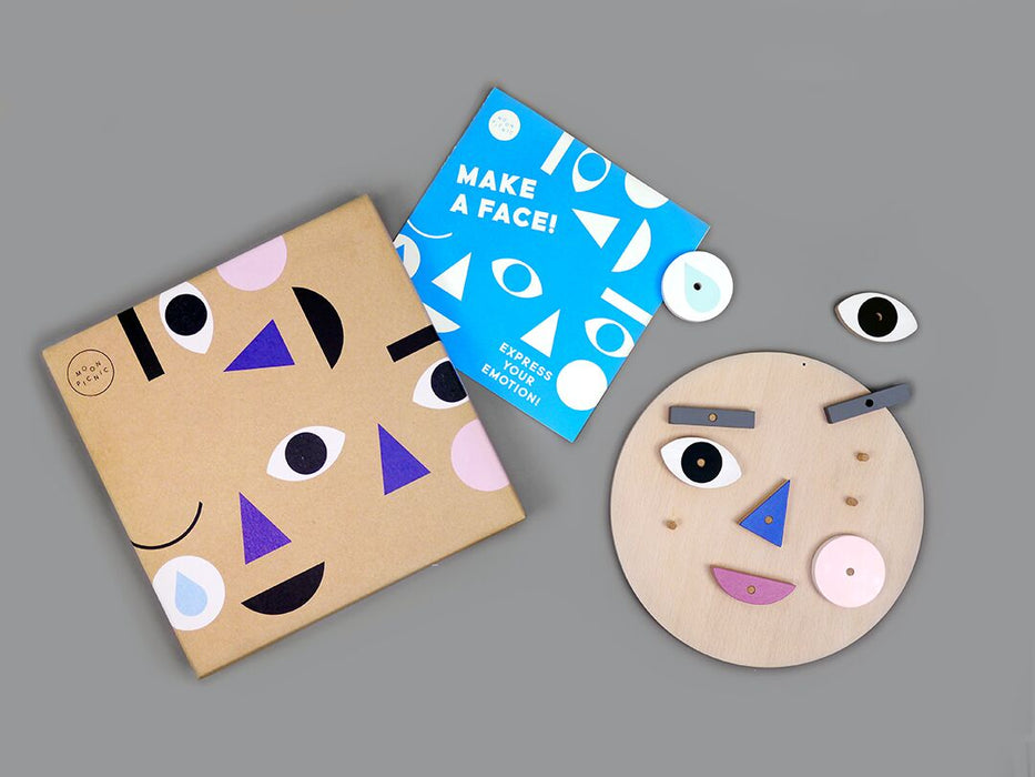Moon Picnic Make A Face Wooden Toy on DLK