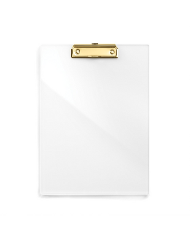 Russel and Hazel Acrylic & Gold Clipboard at Design Life Kids
