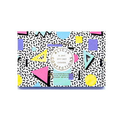 Alicja Confections White and Milk Chocolate Postcard Bar on Design Life Kids