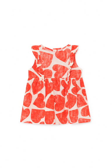 All Over Hearts Ruffle Dress at Design Life Kids