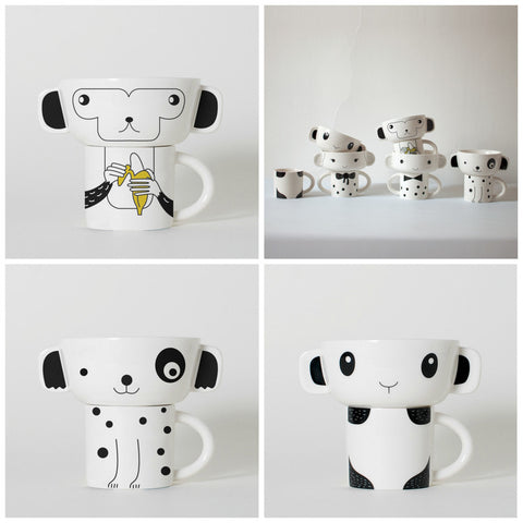 Wee Gallery ANIMAL STACKING SET ON DLK